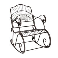 Camp Furniture Nordic Iron Outdoor Beach Chairs Creative Balcony Leisure Lazy Lounge Rocking Chair Garden Armchair
