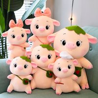New plush toy cute baby pig doll shoulder bag girl heart sleep with cartoon pillow children gift