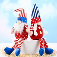 Party Decoration Patriotic Veterans Day Tomte Gnome Decorations Handmade Stars Plush Doll Swedish Ornaments 4th of July Gift EEB6085