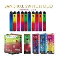 Bang XXL commutateur DUO cigarettes jetables 2in1 2500 bouffées 7ml 1100mAh 6% de bosses d'huile 8 couleurs vs randm pro Dazzle Air Bar à air max bouffée de bouffée et flum flum flotteur