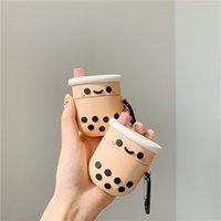 Niedliche 3D Blase Milch Tee Tasse Kopfhörerabdeckung für Apfel Airpods 1 2 3 Pro Silikon Fall AIRPODS3 Schutz Air Pods Zubehör