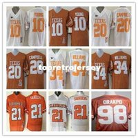 Texas Longhorns 34 Ricky Williams 20 Earl Campbell 10 Vince Young Oklahoma State 21 Barry Sanders College Jersey Football
