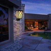 Wall Lawn Lamps LED Solar Flame Lights Flicking Outdoor IP65 Waterdichte kolom Koplamp voor Courtyard Tuin Landschap