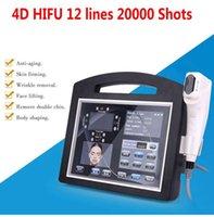المحمولة عالية الكثافة تركز الموجات فوق الصوتية الموجات فوق الصوتية 4D HIFU 12 خطوط آلة 20000 الطلقات الوجه الجلد تشديد الأرداف رفع تجاعيد إزالة صالون تجميل