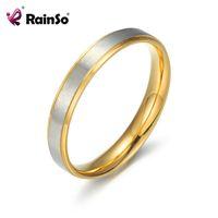 Rainso Кольцо любовников из нержавеющей стали Вослители Ювелирные Изделия Простой элегантный палец пару юбилей Свадебный подарок для женщин мужские кольца