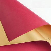 Bicolor Florist Wrap Paper Metallic 58*58cm 20pcs lot DIY Craft Flowers Gift Packing Wedding Festive & Party Supplies FWA4355