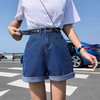 Guuzyuviz Casual 5XL Plus Size Denim Shorts Jeans Woman Jean Shorts Donne Estate Vita alta Feminino Spodenki Damskie 210329
