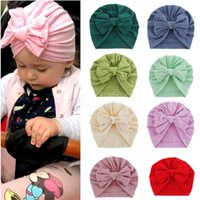 Solid Knot Turban Hats for Baby Boys Girls Beanies Newborn hat Bonnet Toddler 0-4T Headwraps DD578
