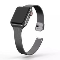 Luxury Milanese strap For Apple Watch band 44mm 40mm 42mm 38mm Smart Accessories Silm Meatl bracelet Fit iwatch Bands serie 6 SE 5 4 3 2 1