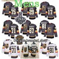 Vegas Goldene Knights Jersey 61 Mark Stone Jersey 75 Ryan Reaves 73 Brandon Pirri 58 Vegas starke Alex Tuch Eishockey-Trikots genäht