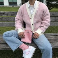 Men's Sweaters Golf Wang High Quality Le Fleur Soft Pink Cardigan Autumn Winter Sweater Tyler The Creator Women Men Wool Jacket