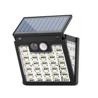 مصابيح الحائط في الهواء الطلق أضواء الطاقة الشمسية 6 حزمة / 3 وضع العمل مصباح الأمن PIR استشعار الحركة Wireless IP65 للماء