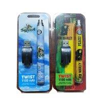 VAPorizer Twist Battery Backwoods Cookies Runtz 1100mAh Tensione variabile VAPABILE VAPE PEN Blister Kit con caricabatterie USB