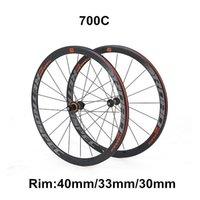 دراجة عجلات الطريق سبائك الألومنيوم حافة 4 مختومة محامل 700c عجلة 40/33/30 ملليمتر العجلات الملونة صائق دراجة قياسية velo ruler