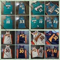 Auténtico Mitchell Ness Stephen Curry 30 Jersey Mike Bibby 10 33 Grant Hill Swingman Camisetas de baloncesto