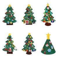 Noel Ağacı DIY Keçe İşi Noel-Ağacı Çocuk Oyuncakları Hediyeler Yapay Duvar Dekorasyon Bebek Eğitim Hediye WLL436