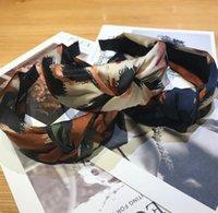 Lystrfac Color Sólido Slik Acolchado Pleated Hairband para las mujeres Moda Scrunchy Headband Retro Hair Loop Peludas Mujeres Accesorios
