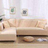 Couvercle de canapé 2pcs pour salon couverture Couverture de canapé d'angle en forme d'élastique Couvre chaise prolongée Housse de chaise longue 284 S2