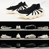 2021 Otantik Kanye Yeezy Yeezys Yezzys 450 Bulut Beyaz Ayakkabı Terlik Erkek Kadın Koyu Kayrak Bulut-Siyah Batı Bulutlar Dalga Açık Runner Sneakers H68038 80XX #