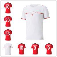 2021 Швейцария Футбольные трикотажные изделия SUISSE 21 22 промывают белый Jankto Sow Gavranovic Behrami Embolo Seferovic Kaderabek Husbauer Shaqiri футбольные рубашки