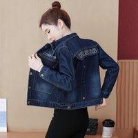 Women's Jackets 2021 Plus Size 3XL Denim Jacket Spring Autumn Short Coat Pink Jean Woman Casual Tops Loose Outerwear