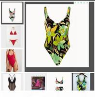 Designer Ladies Summer Beach Swimwear Best Quality Brand Floral Bikini Underwear Swimwear Womens One-piece Swimsuit Sexy Bathing Suits