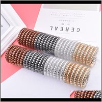 Bands Jewelry Drop Delivery 2021 Selling Telephone Wholesale Custom High Quality Spiral Tie Cord Hair Elastic Rubber I42Ex