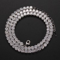 Cadenas 2021 Trendy Hip Hop Gold Silver Color Tennis Collares para hombres 16in 18in 20in 22in 24in Party Gift Jewelry Wholesale X6085
