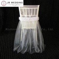 Chaise Couvre 20 pcs 2 Style Robe de mariée Style Fancy Organza Cap TUTU Housse de dentelle