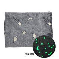 Jogue o em WTQB597 Dark Moon Cinza Cobertor Magic Cobertor Fleece / Stars Pelúcia Throw Furry New Quente Blanket Glow Nnuwi 728 R2