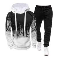 Men's Tracksuits Autumn Tracksuit 2 Pieces Set Hoodies+Pants Sport Suits For Male Casual Long Sleeve Sweatshirt Clothing Sets