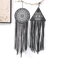 أسود بوهو عين الله الأسود اليدوية حلم الماسك التقليدية نعمة هدية للسيارة الجدار شنقا الحضانة أطفال dreamcatcher 1399 t