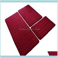 Mats Aessories Home & Gardencoral Veet Rug, Memory Foam Cushion, Bathroom Anti-Slip Mat, Foot Bath Mat-Wine Red1 Drop Delivery 2021 Bnrsu