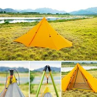 Tents And Shelters 20D Multifunctional Ultralight Tent  Sun Shelter Camping Outdoor Hiking Backpacking Hunting Tent  Sunshade Pole Inner