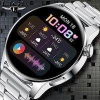 Designer Luxus Marke Uhren GE Smart Bluetooth Anrufe Zifferblatt Smart Männer Frauen Herzfrequenz Monitor Sport Fitness Armband für Android ios
