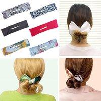 Magic Hair Bun Maker Fashion Bands Flexible Reutilizable Corona Twister DIY French Twist Shaper para niñas Mujeres Lazos de cabeza (200pcs Free UPS)