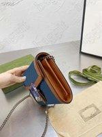 Dionyysus Мини цепная сумка Женский дизайнер кожаный холст Crossbod Crossbody винтажная сумка тигр головной змеи алмаз WOC закрытие небольшого кошелька кошелек на цепях