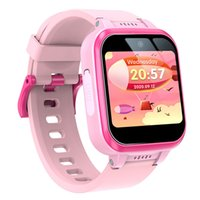 Kids Smart Watch Watch Toddler HD Dual Camera Multi-Function 1.54 дюйма Сенсорный экран SmartWatch с учебными игрушками USB зарядки подарки на день рождения для мальчиков и девочек