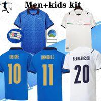 2021 Ita Insigne Insigne Futebol Jerseys Ital Home Away Jorginho El Shaarawy Bonucci Bernardeschi Italia Adulto Men + Kid Kit Futebol Camisas