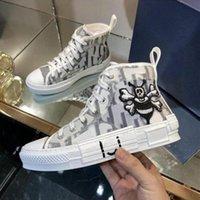 Tasarımcı Ayakkabı B23 Sneakers Eğik Erkek Sneaker Teknik Tuval Deri Kadınlar Casual Ayakkabı En Kaliteli Kutusu ile Luxurys Eğitmenler Boyutu 35-46
