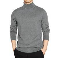 4XL Turn-down Yaka Kazak Kazak Erkekler Kış Balıkçı Yaka SlimSweaters Basit Stil Erkek Örme Tişörtleri Adam Giysileri Artı Boyutu