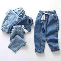 Lawadka Yaz Ince Çocuk Erkek Kız Kot Pantolon Pamuklu Çocuk Erkek Kız Pantolon Rahat Denim Yüksek Kalite Yaş 2-10years için 210729