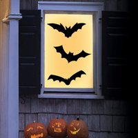 Wall Stickers Halloween Bat For Home Holiday Family Creative Horror Decor Party Sticker Haunted Wallpaper Scary Props Art
