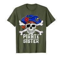 Забавный пиратский череп кроссовки шляпа костюм - пиратская сестра футболка