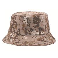 Camuflaje sombrero hombres al aire libre deporte cubo sombreros táctico boonie sombrero protección sol protección de senderismo sombrero de pesca safari tapa