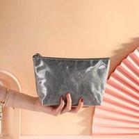 10pcs Cosmetic Bags Women TPU Dupont paper Brief Solid Large Capacity Wash Storage Bag
