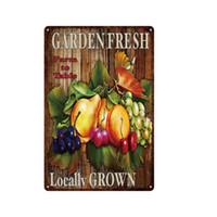 Ferme Fruit Fruit Végétal Signes en métal Retro Juice Légumes Café Plaques Plaques en métal Plaque Plaque Plaque Painting Décor