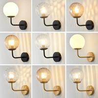 Wall Lamp Nordic Glass Modern Led Gold black Lights Home DecorBedroom Bedside Kitchen Living Room Sconce Metal Luminaire