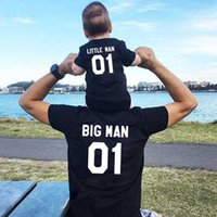 Family Matching Clothes Fashion Big Little Man Tshirt Daddy And Me Outfits Father Son Dad Baby Boy Kids Summer Clothing Brothers X0712