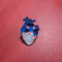 Hot selling creative new products cartoon paint enamel dripping oil broken heart wound sticker alloy BROOCH BADGE